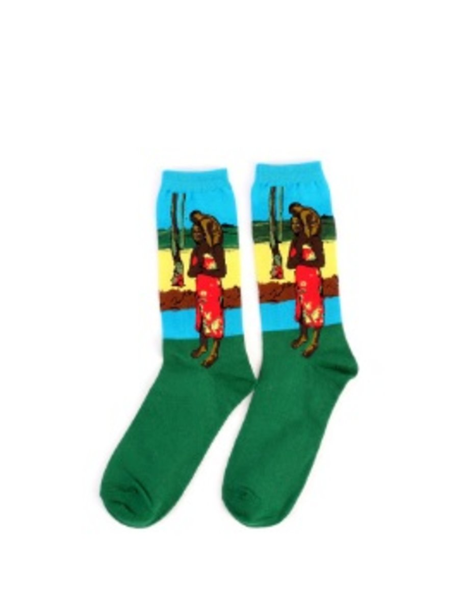 Art sokken met Tahiti schilderij van Gauguin