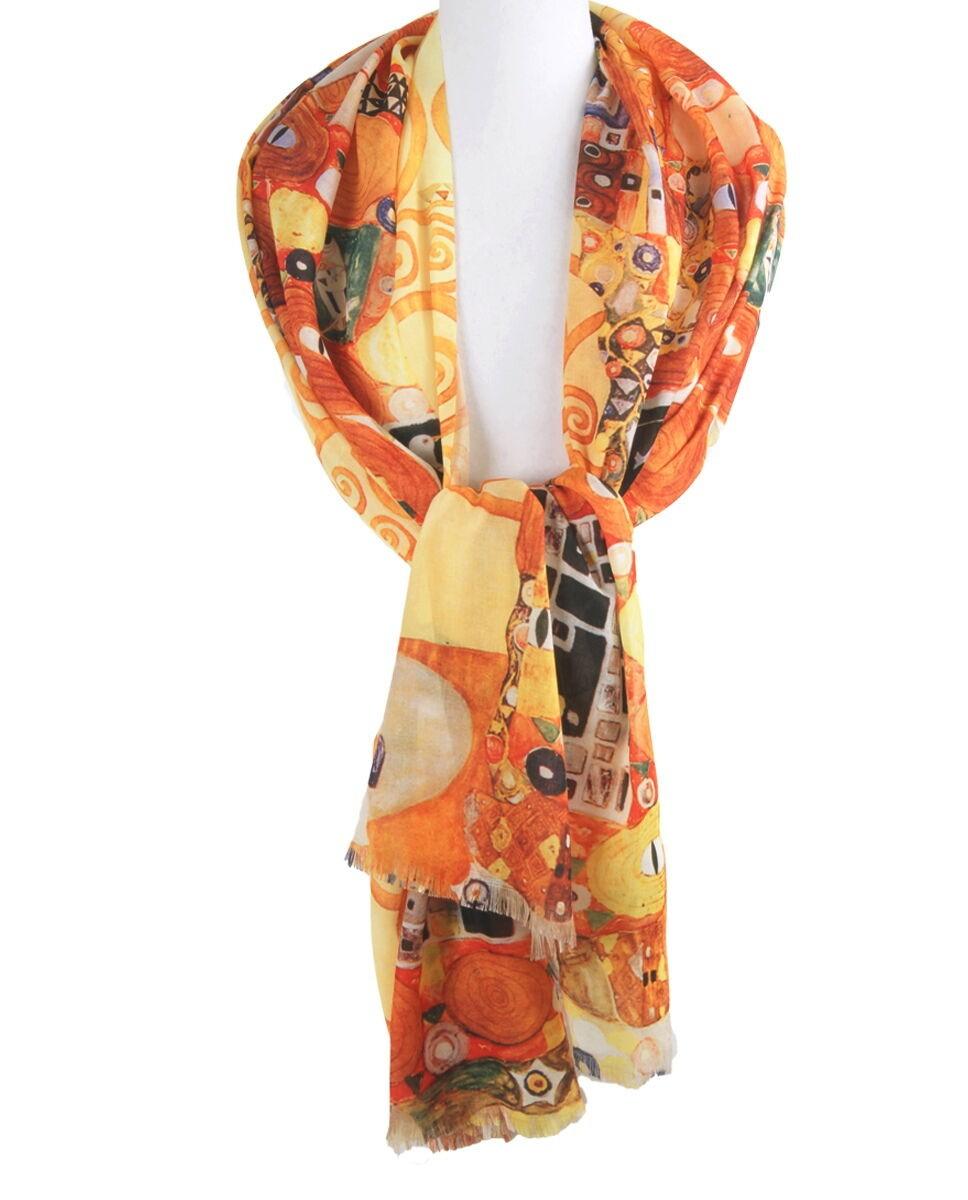 Schilderij-sjaal met afbeelding van Gustav Klimpt