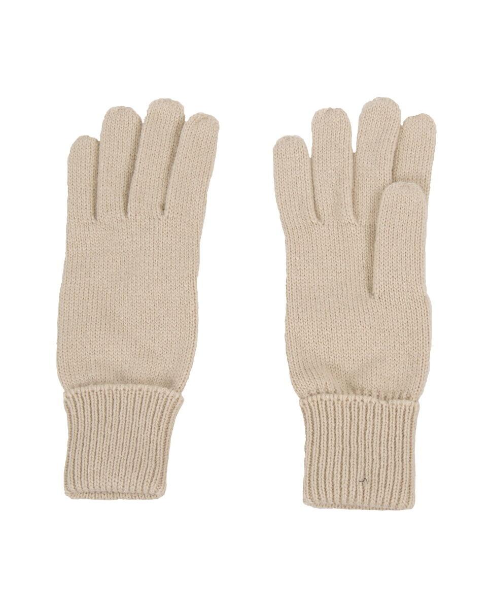 Fijngebreide handschoenen in lichtbeige