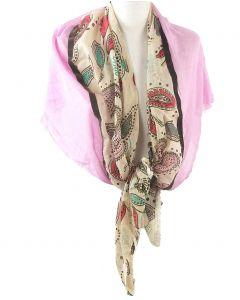 Driehoekige sjaal van luchtige katoen