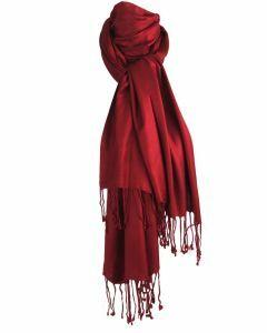 Wijnrode pashmina sjaal