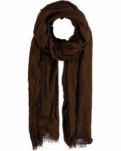 Casual sjaal in kastanjebruin
