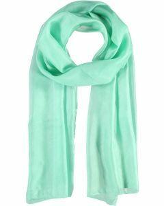 Effen mintgroene zijden sjaal