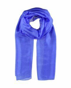 Kobaltblauwe langwerpige zijden sjaal