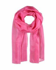 Hardroze langwerpige zijden sjaal