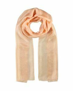 Abrikooskleurige langwerpige zijden sjaal