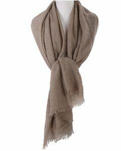 Beige stola/sjaal van 100% kasjmier
