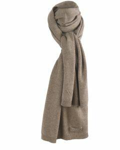 Kasjmier-blend sjaal in taupe