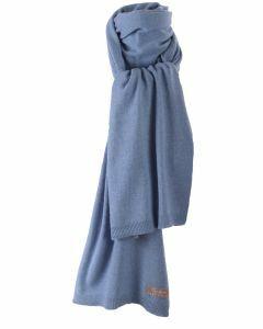 Kasjmier-blend sjaal in blauw