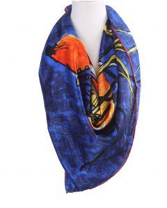 Vierkante zijden sjaal met schildering van Vincent van Gogh