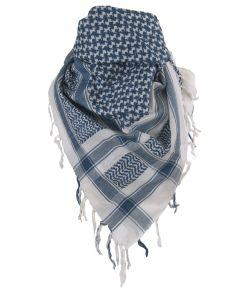 PLO sjaal / Arafat sjaal in blauw-wit