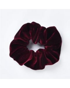 Velvet Scrunchie - Bordeaux rood