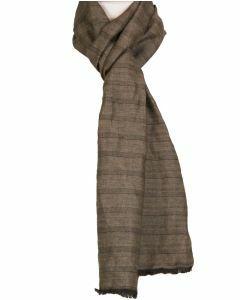 Linnen sjaal in taupe-bruin