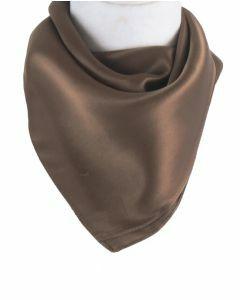 Goudbruine satijn zijden sjaal