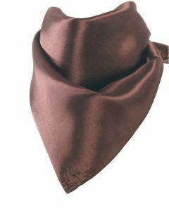 Satijnen sjaal in donkerbruin
