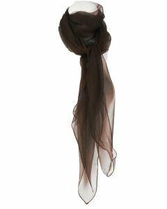 Donkerbruine zijden voile sjaal
