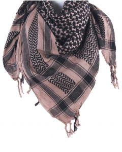 PLO sjaal / Arafat sjaal in lichtbruin-zwart