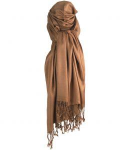Camel kleurige pashmina sjaal
