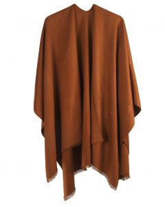 Effen omslagdoek in camel