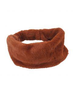 Kunstbont haarband in cognac-bruin