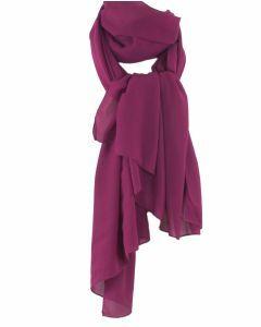 donker-cyclaam kleurige crêpe sjaal