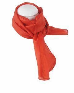 Donker-oranje zijden sjaaltje