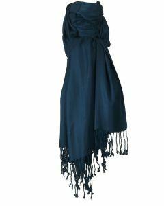 Donker jeansblauwe pashmina sjaal