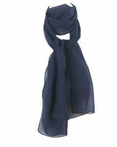 Donkerblauwe crêpe sjaal