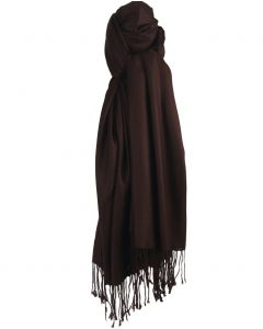 Donkerbruine pashmina sjaal