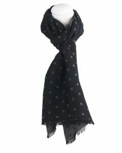 Zwarte sjaal met stippenprint