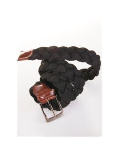 Zwart-bruin gevlochten touwriem, 42mm breed