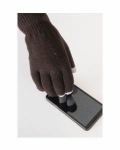 Bruine iGloves Touchscreen heren-handschoenen, met Etip vingertoppen