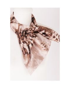Oudroze bruine slip on sjaal met animalprint