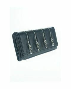 zwarte boFF portemonnee met 4 sierritsen