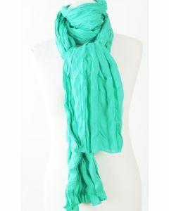 Sjaal van effen caribisch groene katoen