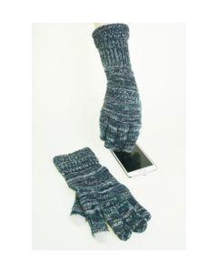 Trendy smaragdgroene gemeleerde I-Touch gloves