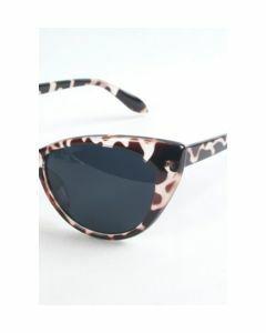 Sexy Cat Eye zonnebril met schildpad frame en grijze lenzen