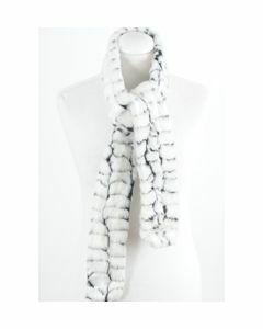 Zachte imitatie bontsjaal in wit-zwart