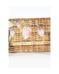 Handgemaakte portemonnee met picknickmand thema