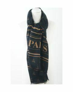 Zwarte sjaal met Eiffeltorentjes