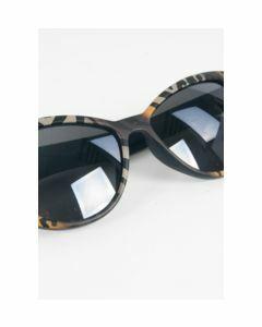 Cat Eye zonnebril met bruine luipaard frame