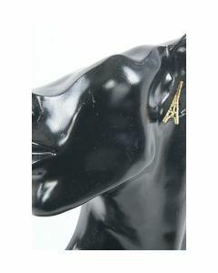 Bronskleurige eiffeltoren oorstekers