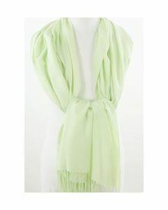 Soepelvallende effen pistache groene pashmina sjaal