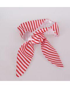 Rood wit gestreepte satijnen haarband
