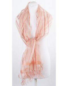 Gestreepte zijde organza sjaal / stola