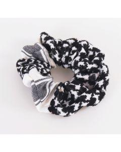Zwart/witte PLO scrunchie