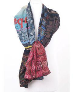 Zijde-modal sjaal met patchwork