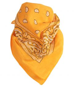 Boerenzakdoek / bandana in warm oranjegeel