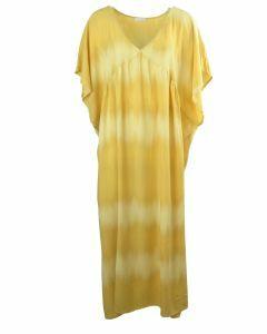 Gele maxi jurk met kleurverloop