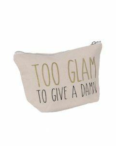 Make-up tasje met ''TO GLAM'' tekst